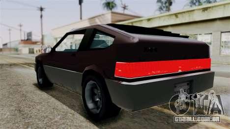 Blista Compact from Vice City Stories para GTA San Andreas esquerda vista