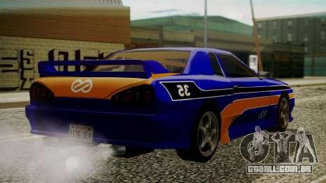 Elegy NR32 with Neon Exclusive PJ para GTA San Andreas esquerda vista