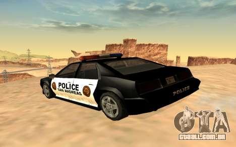 Quatro polícia de Buffalo para GTA San Andreas esquerda vista