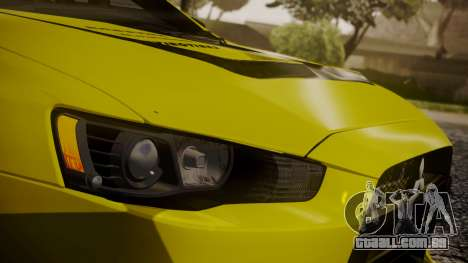 Mitsubishi Lancer Evolution X 2015 Final Edition para GTA San Andreas vista superior