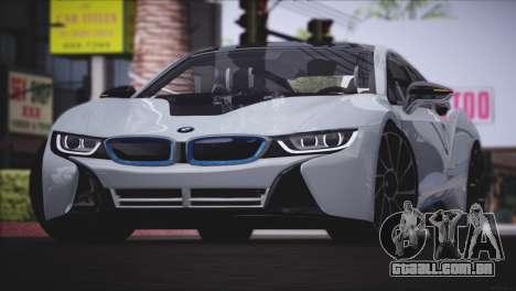 BMW i8 Coupe 2015 para GTA San Andreas esquerda vista