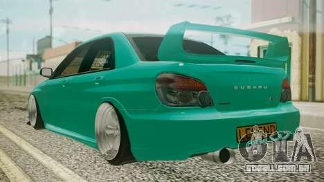 Subaru Impreza 2004 para GTA San Andreas esquerda vista