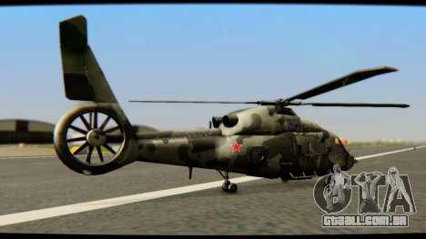 KA 60 Kasatka para GTA San Andreas traseira esquerda vista