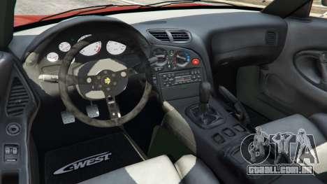 GTA 5 Mazda RX-7 C-West v1.0 traseira direita vista lateral
