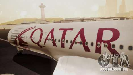 Airbus 350-900XWB Qatar Launch Customer para GTA San Andreas vista direita