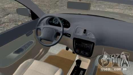Daewoo Nubira I Spagon 1.8 DOHC 1998 para GTA 4 vista de volta