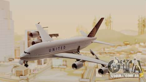Airbus A380-800 United Airlines para GTA San Andreas