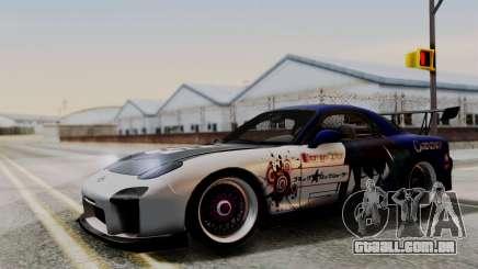 Mazda RX-7 Black Rock Shooter Itasha para GTA San Andreas