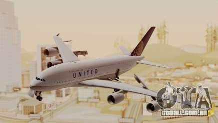 Airbus A380-800 United Airlines para GTA San Andreas