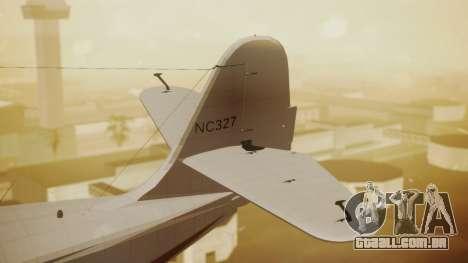 Grumman G-21 Goose NC327 Cutter Goose para GTA San Andreas traseira esquerda vista