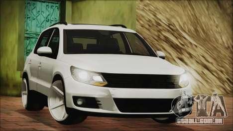 Volkswagen Tiguan Vossen Edition para GTA San Andreas esquerda vista