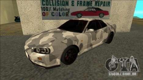 Nissan Skyline R34 Army Drift para GTA San Andreas