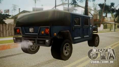 Patriot III para GTA San Andreas esquerda vista