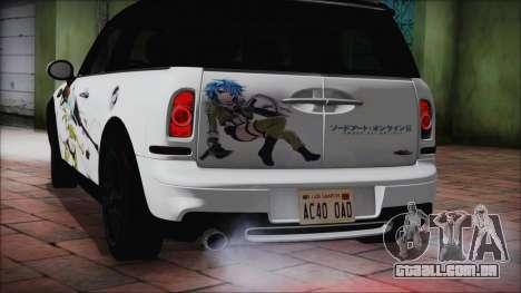 Mini Cooper Clubman 2011 Itasha para GTA San Andreas vista direita