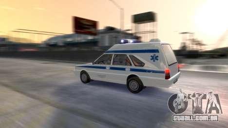 Daewoo-FSO Polonez Carga de Ambulância de 1999 para GTA 4 vista inferior