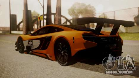 McLaren 650S GT3 2015 para GTA San Andreas esquerda vista