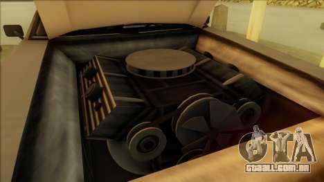 Sabre Race Edition para GTA San Andreas vista interior