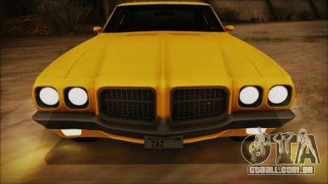 Pontiac Lemans Cupê Hardtop 1971 FIV АПП para vista lateral GTA San Andreas