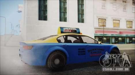 Cheval Fugitive Downtown Cab Co. Taxi para GTA San Andreas esquerda vista