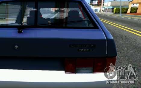 VAZ 2108 V1 para GTA San Andreas vista traseira