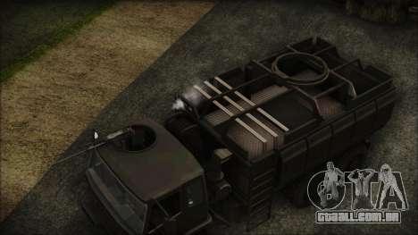 Archer Gun Truck para GTA San Andreas vista direita