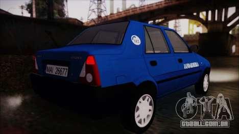 Dacia Solenza Jandarmeria para GTA San Andreas esquerda vista