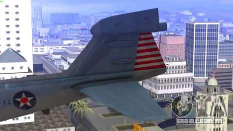 Northrop Grumman EA-6B Prowler VAQ-129 para GTA San Andreas traseira esquerda vista