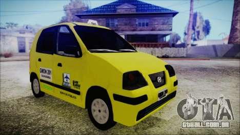 Hyundai Atos Taxi Colombiano para GTA San Andreas traseira esquerda vista
