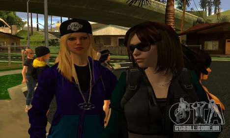 Womens Mega Pack by 7 Pack para GTA San Andreas por diante tela