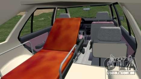 Daewoo-FSO Polonez Carga de Ambulância de 1999 para GTA 4 vista interior