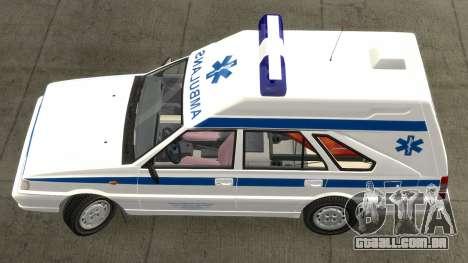 Daewoo-FSO Polonez Carga de Ambulância de 1999 para GTA 4 esquerda vista