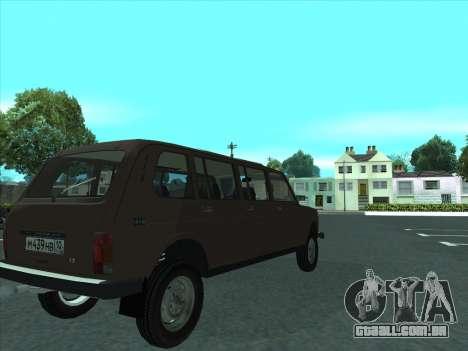 VAZ 2131 Samudera para GTA San Andreas vista traseira