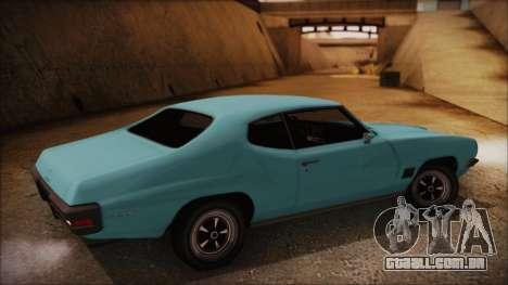 Pontiac Lemans Hardtop Coupe 1971 para GTA San Andreas esquerda vista