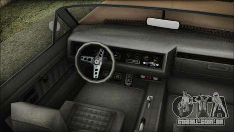 GTA 5 Albany Buccaneer Bobble Version IVF para GTA San Andreas traseira esquerda vista