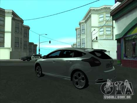Ford Focus ST barbatana para GTA San Andreas vista direita