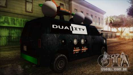 Duality Van - Furgoneta Duality para GTA San Andreas esquerda vista