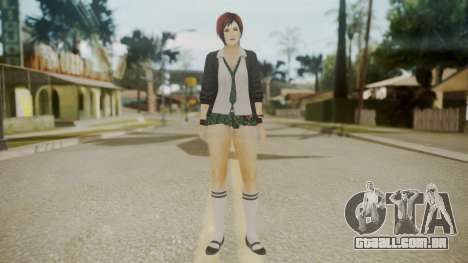 DoA School Grl para GTA San Andreas segunda tela