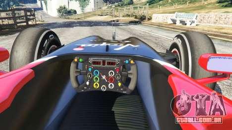 GTA 5 Virgem VR-01 [Timo Glock] v1.1 traseira direita vista lateral