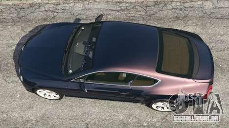 GTA 5 Bentley Continental GT 2012 v1.1 voltar vista