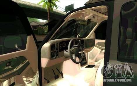 Chevrolet Exterior FSB para GTA San Andreas esquerda vista