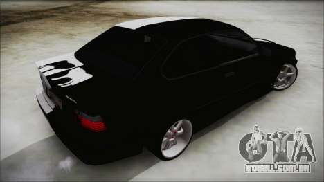BMW M3 E36 Good and Evil para GTA San Andreas esquerda vista