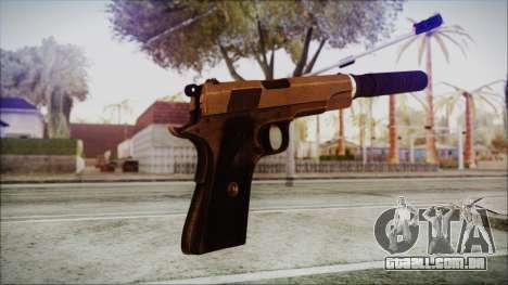 Original Colt 45 Silenced HD para GTA San Andreas terceira tela