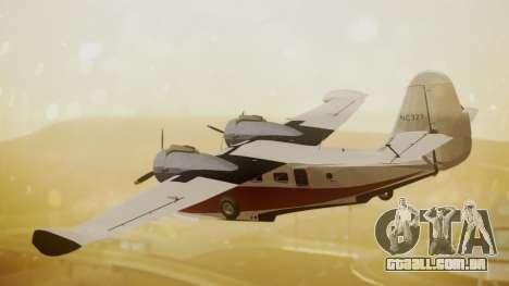 Grumman G-21 Goose NC327 Cutter Goose para GTA San Andreas esquerda vista