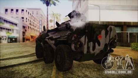 Norinco Type 92 from Mercenaries 2 para GTA San Andreas esquerda vista