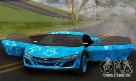 Dinka Jester (GTA V) Blue Star Edition para GTA San Andreas vista traseira