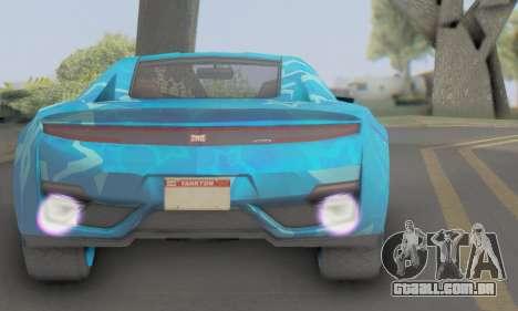 Dinka Jester (GTA V) Blue Star Edition para GTA San Andreas traseira esquerda vista