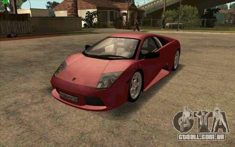 Lamborghini Murcielago para GTA San Andreas esquerda vista