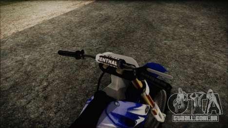 Yamaha YZ250 para GTA San Andreas vista direita
