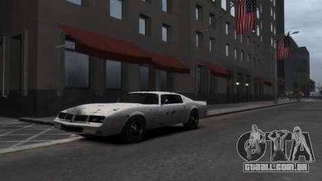 Classic Muscle Phoenix IV para GTA 4 vista superior