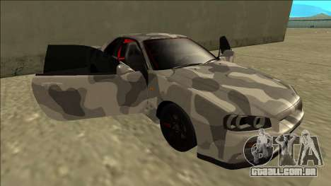 Nissan Skyline R34 Army Drift para GTA San Andreas vista inferior